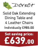 Dorset Natural Solid Oak Dining Set