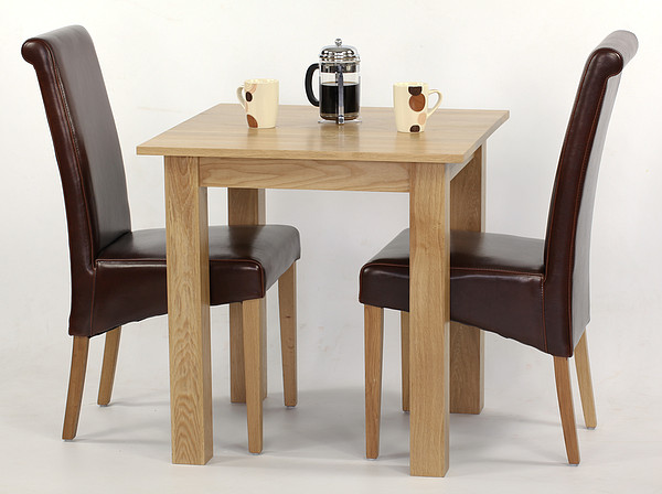 Oak Small Table And 2 ...
