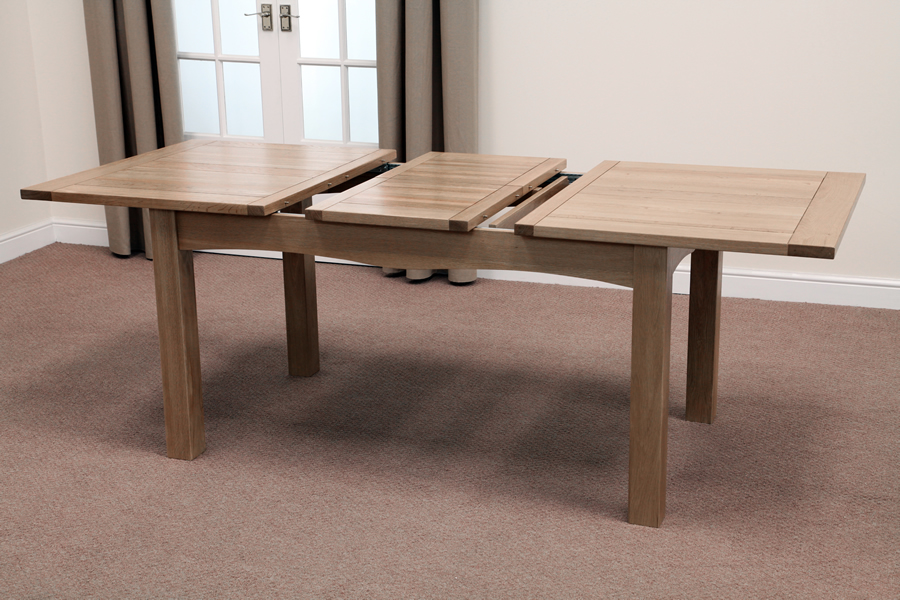 Oak Dining Tables Solid Hardwood Round Extending