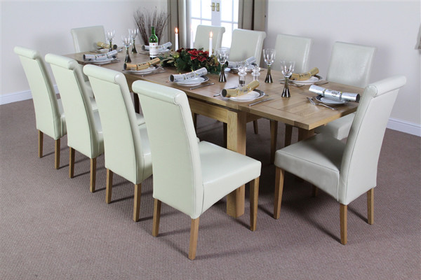 Real leather dining chairs shop for cheap furniture and for 10 table cream