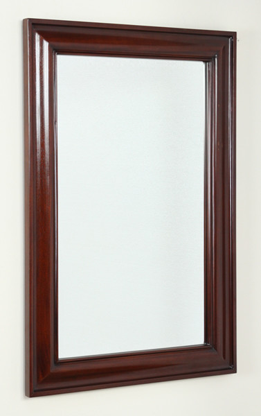 Solid mahogany 900mm x 600mm wall mirror for Mirror 600 x 900