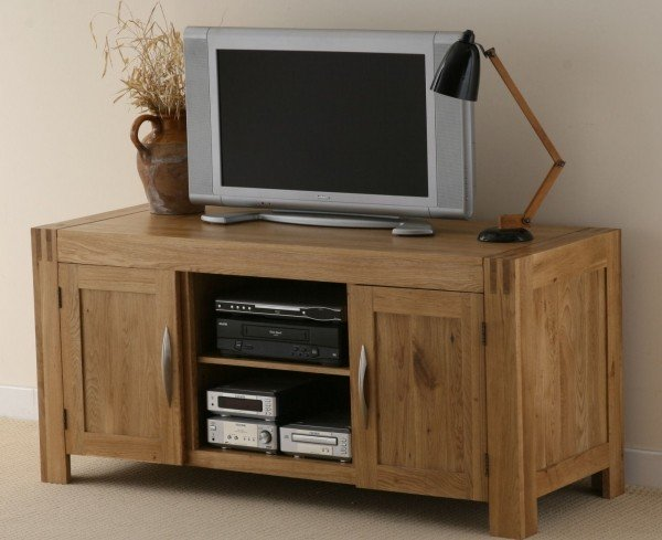 Alto Solid Oak Widescreen TV Unit