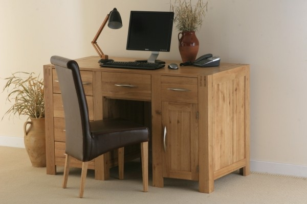 Alto Solid Oak Computer Desk