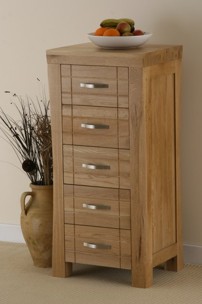 Andorra Solid Oak 5 Drawer Chest