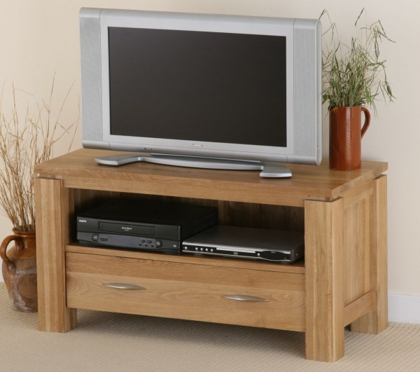 Galway Solid Oak TV/DVD/Video Unit