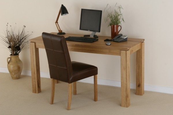 Galway Solid Oak Large Computer Table