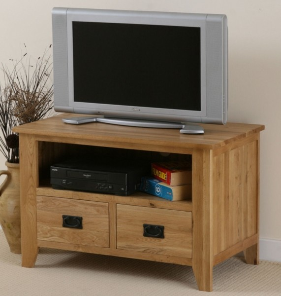 Eden Solid Oak TV DVD VCR Cabinet
