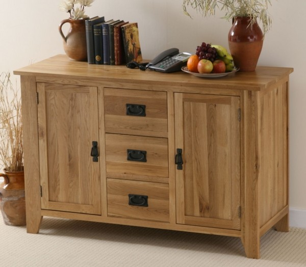Eden Solid Oak Large Sideboard