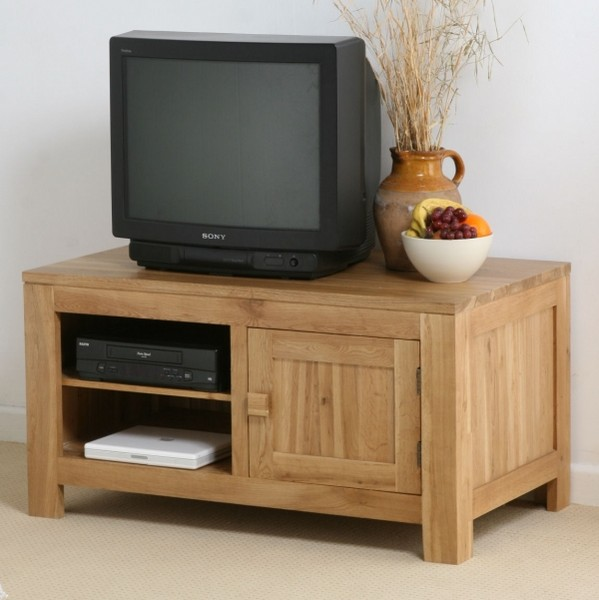 Nero Solid Oak Widescreen TV DVD VCR Cabinet