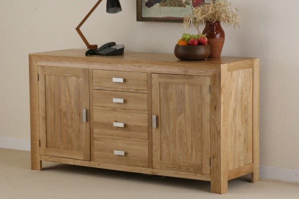 Carva Solid Oak Large Sideboard