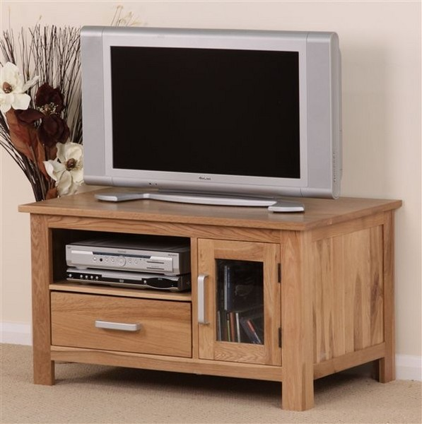 Rivendell Solid Oak TV DVD VCR Cabinet