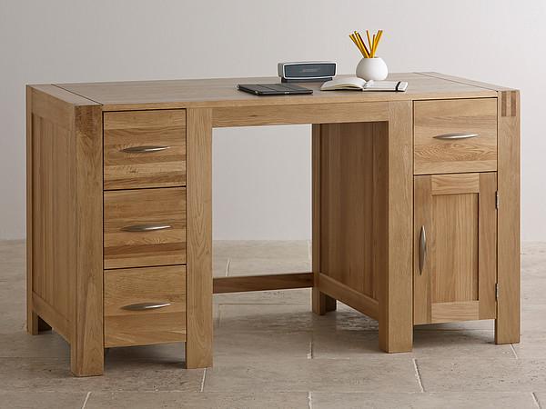 Alto Natural Solid Oak Computer Desk