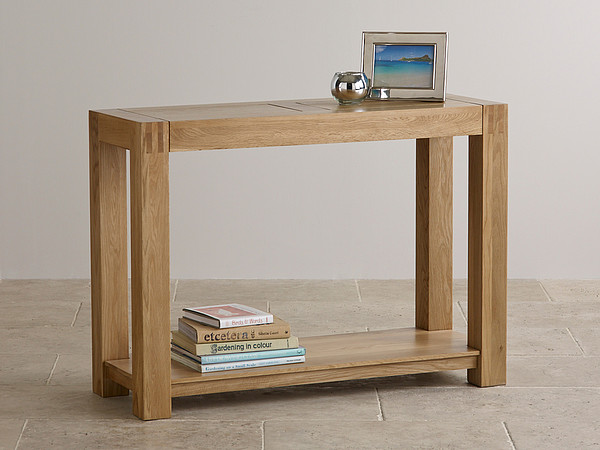 Alto Natural Solid Oak Console Table