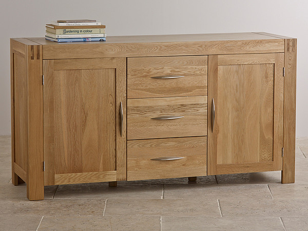 Alto Natural Solid Oak Large Sideboard