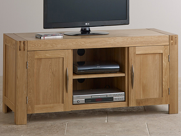 Alto Natural Solid Oak Widescreen TV Cabinet