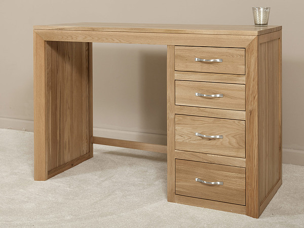 Bevel Natural Solid Oak Dressing Table