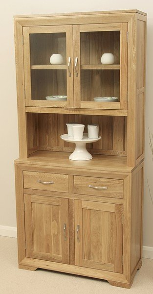 Bevel Natural Solid Oak Glazed Dresser