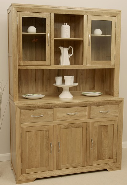Bevel Natural Solid Oak Large Welsh Dresser