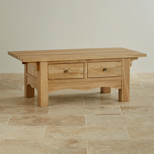 Cairo Natural Solid Oak Coffee Table