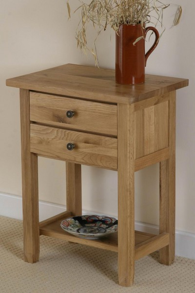 Chaucer Natural Solid Oak Bedside Table