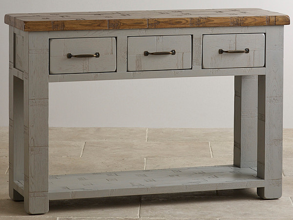 Clermont Painted Rough Sawn Solid Oak Console Table