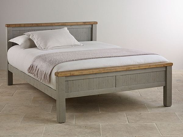 Clermont Painted Rough Sawn Solid Oak Double Bed
