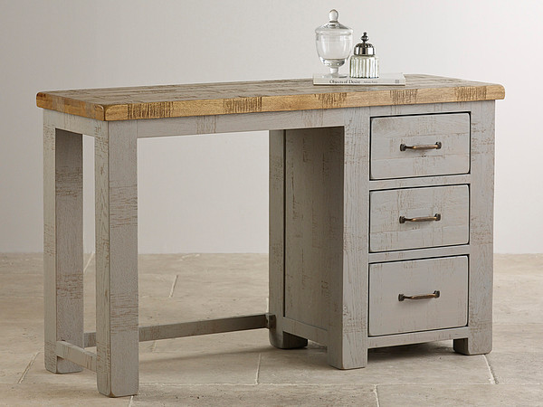 Clermont Painted Rough Sawn Solid Oak Dressing Table