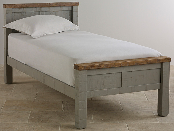 Clermont Painted Rough Sawn Solid Oak Single Bed
