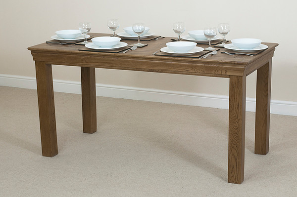 French Farmhouse Rustic Solid Oak 5ft Dining Table