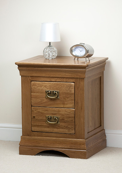 french farmhouse rustic solid oak bedside table. Black Bedroom Furniture Sets. Home Design Ideas