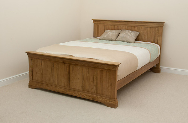 French Farmhouse Solid Oak 4ft 6″ Double Bed