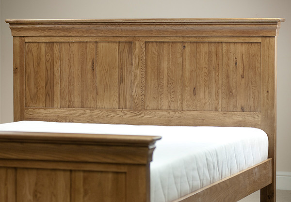French farmhouse solid oak 4ft 6 double bed bedroom for French farmhouse bed