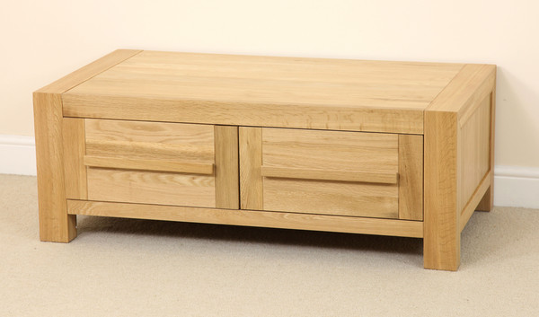 Fresco Solid Oak 2 Drawer Coffee Table