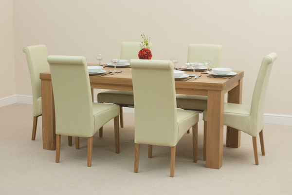 Fresco 6ft X 3ft Solid Oak Dining Table 6 Cream Scroll  : fresco 6ft x 3ft solid oak dining table 6 cream scroll back leather chairs 5236ca348c85e from zoombridge430.wordpress.com size 600 x 400 jpeg 36kB