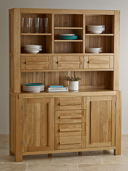 Fresco Natural Solid Oak Welsh Dresser