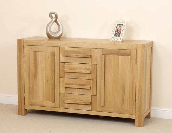 Fresco natural solid oak large sideboard oak furniture land for Oak furniture land