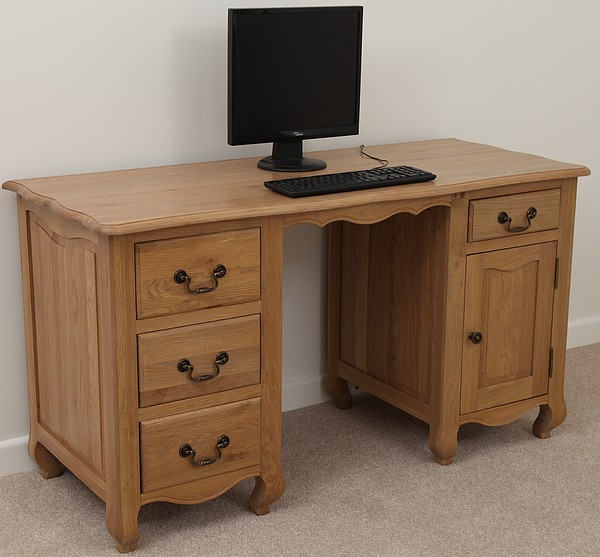 26 cool oak home office furniture - Oak office desk ...
