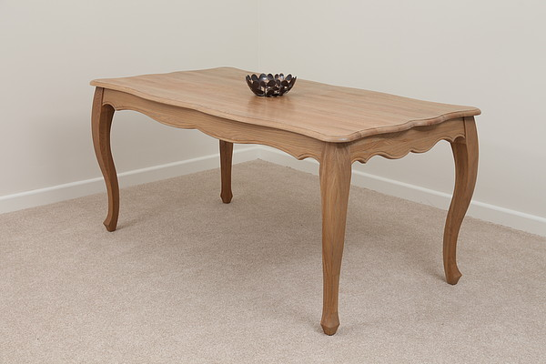 grace solid washed oak 5ft 7 solid oak dining table