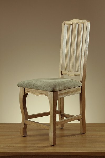 Grace Solid Washed Oak and Plain Sage Fabric Dining Chair