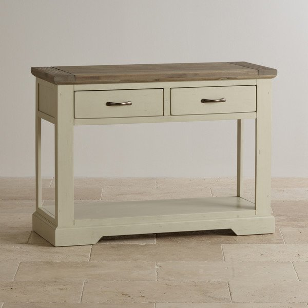 Isabella Brushed Acacia and Painted Console Table