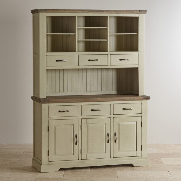 Isabella Brushed Acacia and Painted Large Dresser