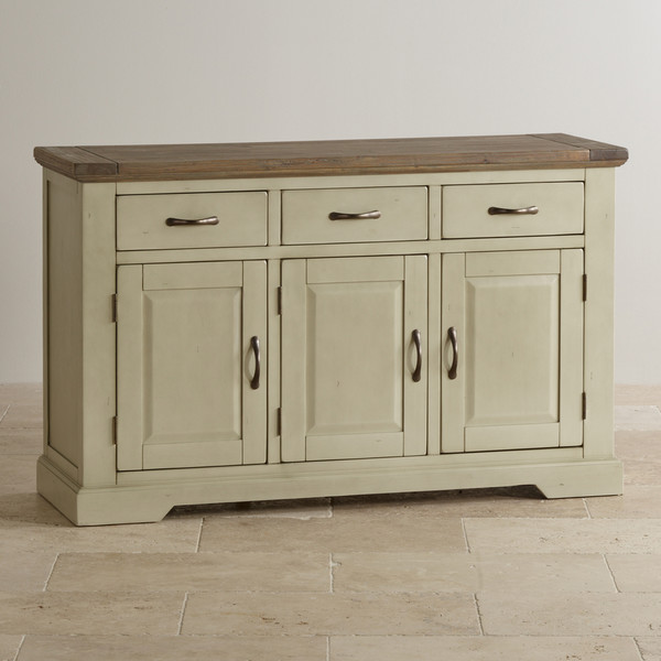 Isabella Brushed Acacia and Painted Large Sideboard