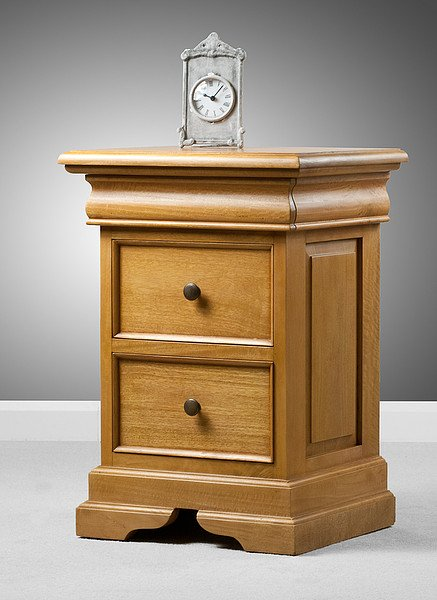 Louis Philippe Solid Amber Mango 3 Drawer Bedside Table