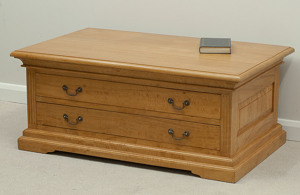 Louis Philippe Amber Solid Mango 4 Drawer Coffee Table