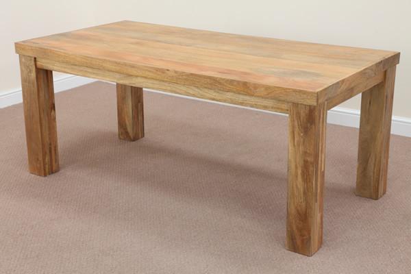 mantis light natural solid mango 4ft x 2ft 6 dining table. Black Bedroom Furniture Sets. Home Design Ideas