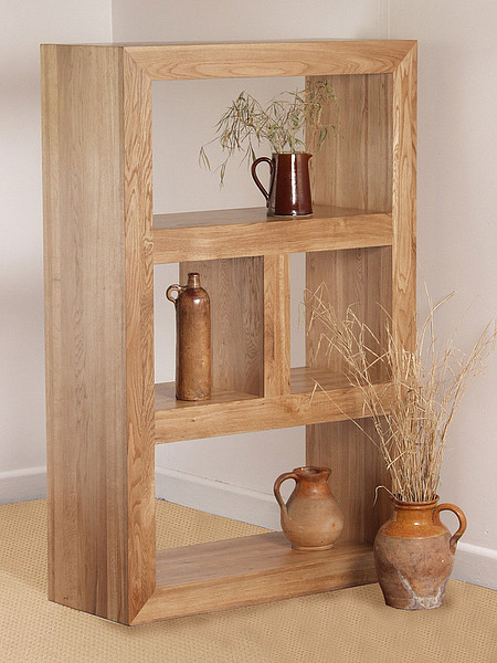 Nero Natural Solid Oak Bookcase / Storage Unit