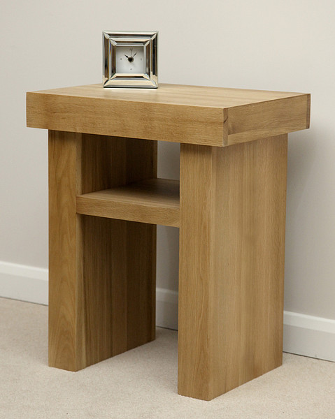 Oakdale natural solid oak lamp table zoombridge aloadofball