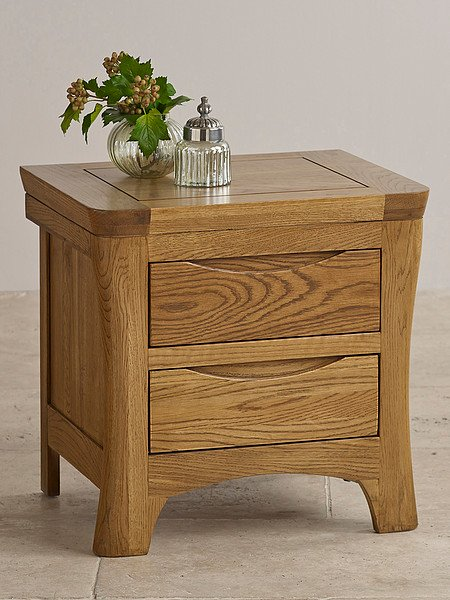 Orrick Rustic Solid Oak Bedside Table