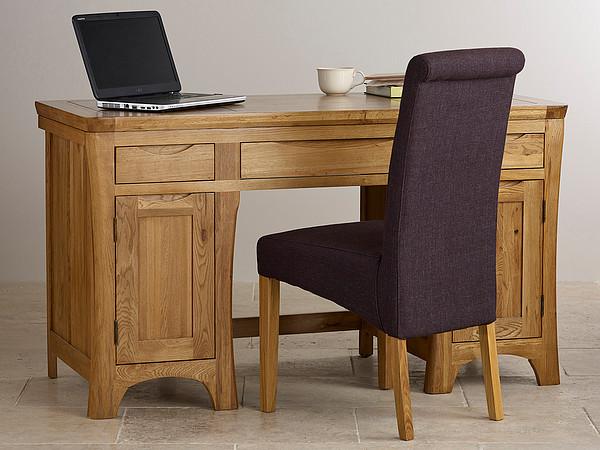 Orrick Rustic Solid Oak Computer Desk
