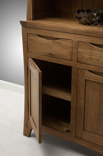 Orrick Rustic Solid Oak Small Dresser Oak Furniture Land